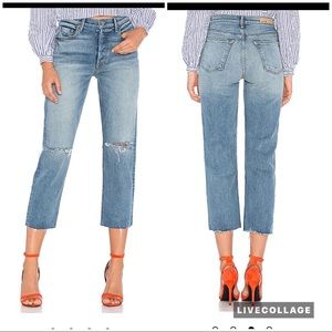 GRLFRND Helena High Rise Crop straight leg jeans